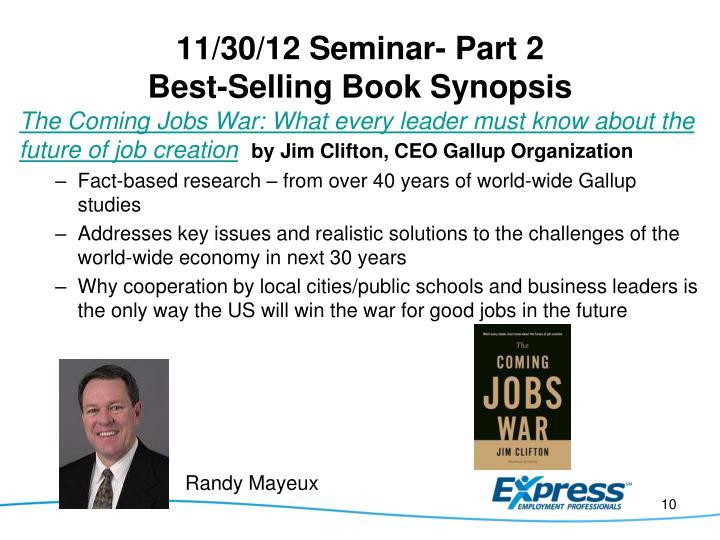 11/30/12 Seminar- Part 2