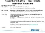 november 30 2012 top threats research revealed