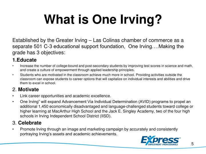 What is One Irving?