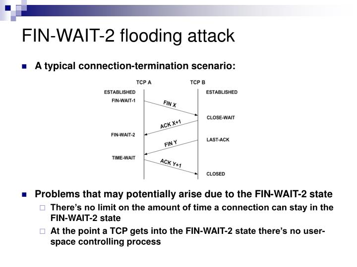 FIN-WAIT-2 flooding attack