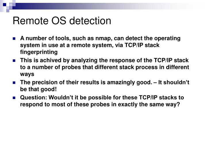 Remote OS detection