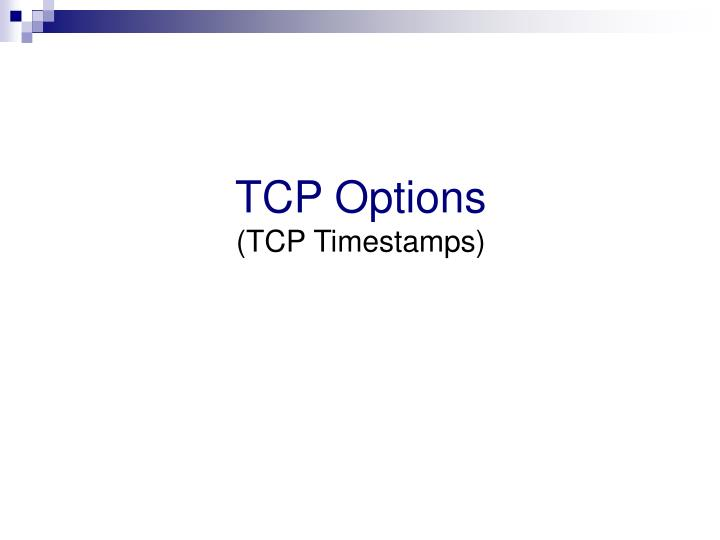 TCP Options