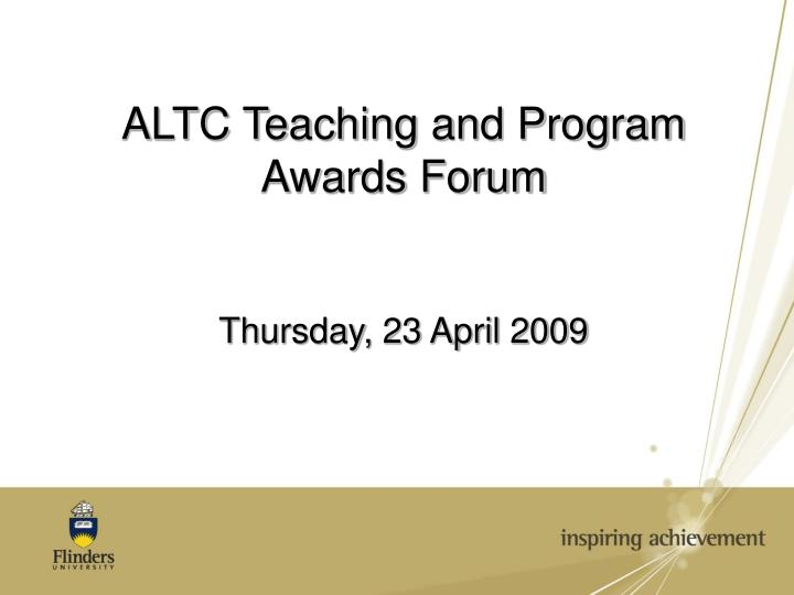 Altc teaching and program awards forum