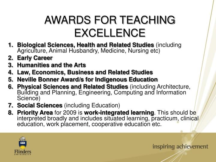 AWARDS FOR TEACHING EXCELLENCE