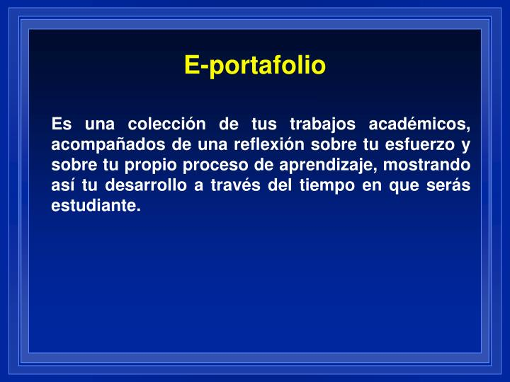 E-portafolio