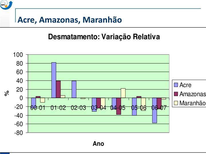 Acre, Amazonas, Maranhão