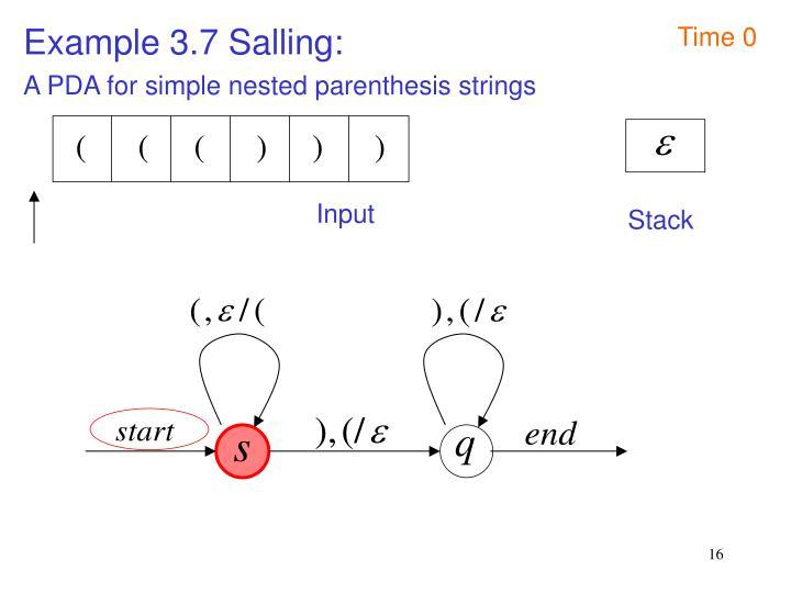 Example 3.7 Salling: