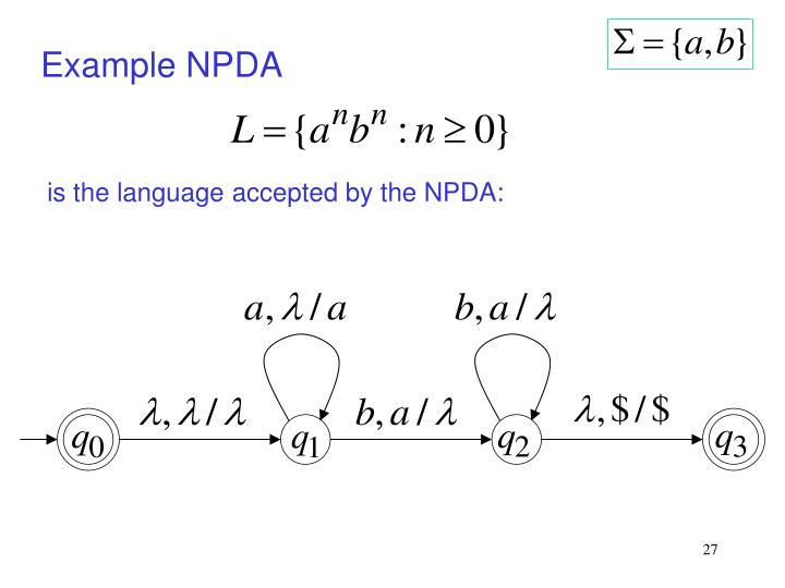Example NPDA