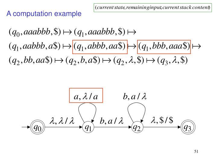 A computation example
