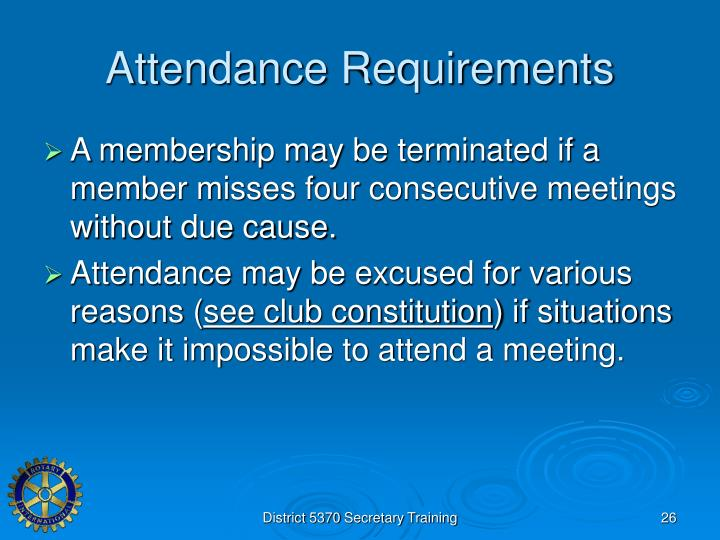 Attendance Requirements