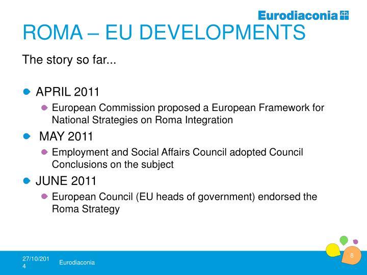 Roma – EU Developments
