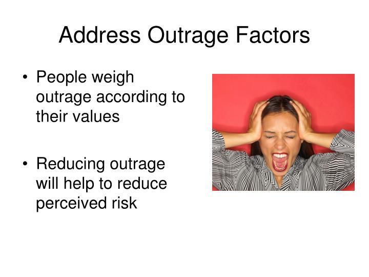 Address Outrage Factors
