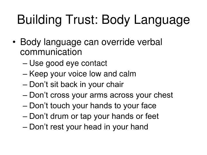 Building Trust: Body Language