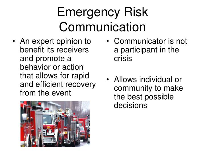 Emergency Risk Communication