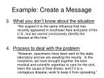 example create a message1