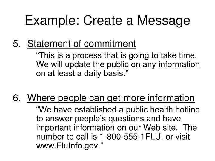 Example: Create a Message