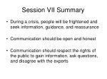 session vii summary2