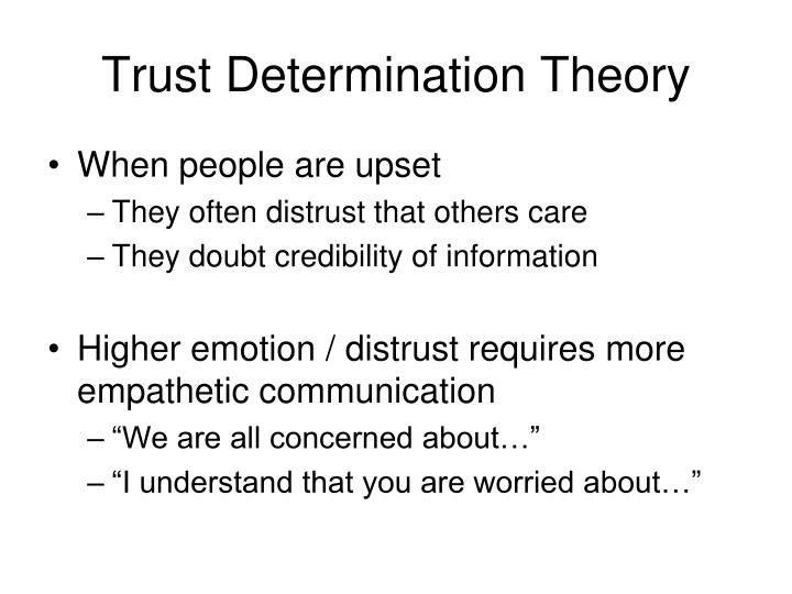 Trust Determination Theory