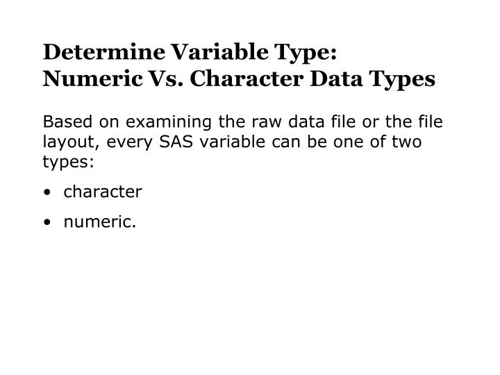 Determine Variable Type: