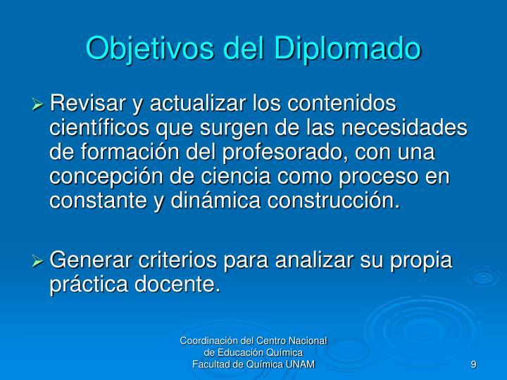 Objetivos del Diplomado