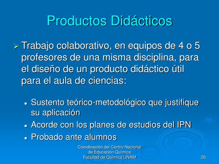 Productos Didácticos