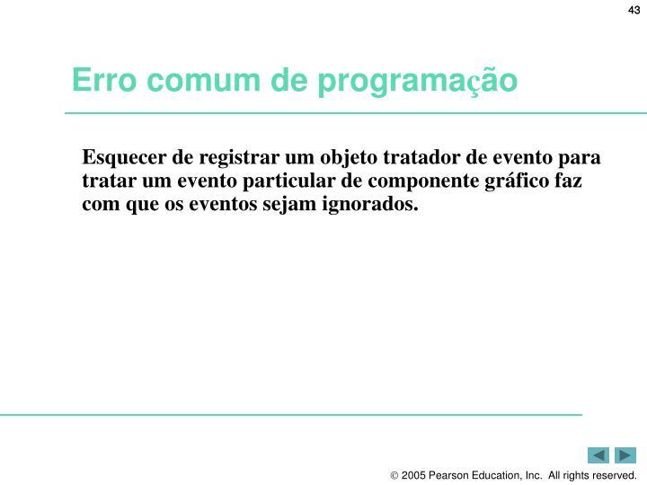 Erro comum de programa