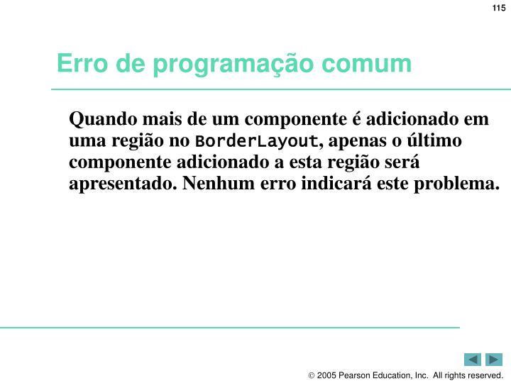 Erro de programação comum