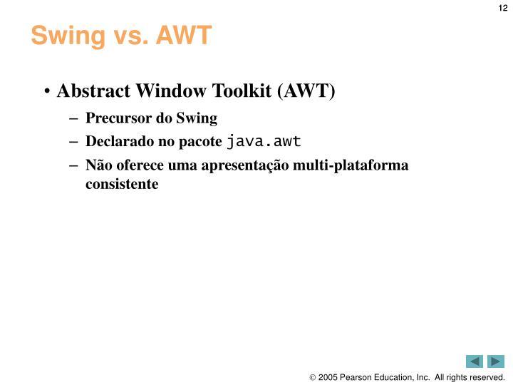 Swing vs. AWT