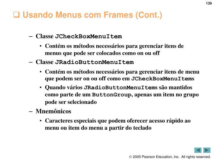 Usando Menus com Frames (Cont.)