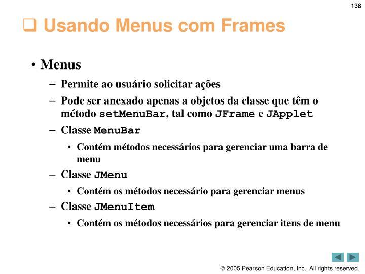 Usando Menus com Frames