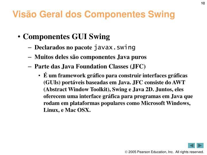 Visão Geral dos Componentes Swing