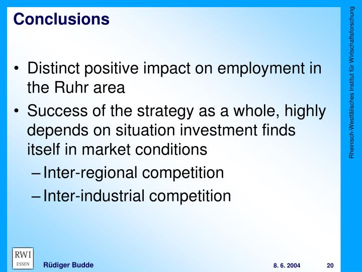 Distinct positive impact on employment in the Ruhr area