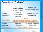 evaluation of o vision