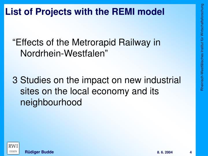 """""""Effects of the Metrorapid Railway in Nordrhein-Westfalen"""""""