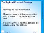 the regional economic s trategy