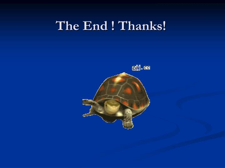 The End ! Thanks!
