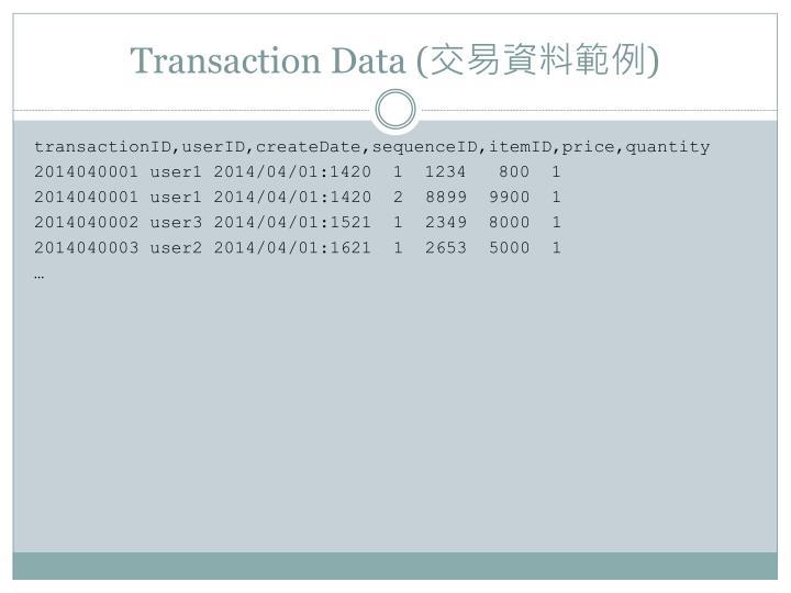 Transaction Data (