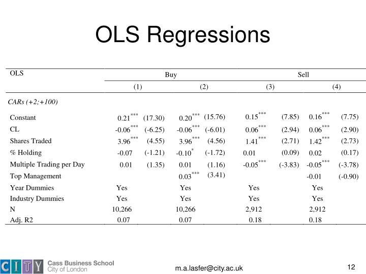 OLS Regressions