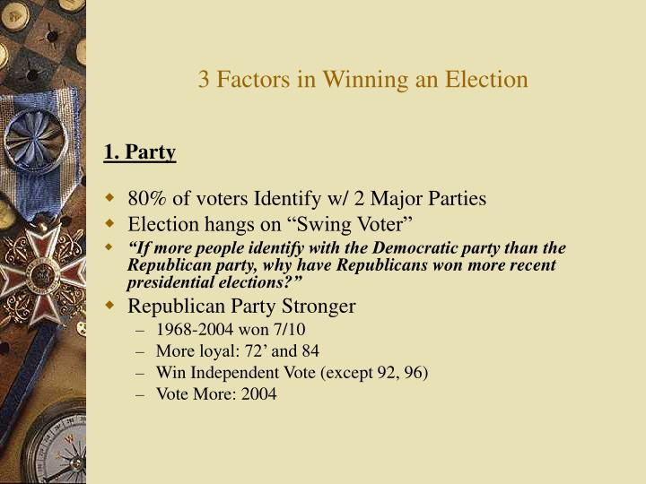 3 Factors in Winning an Election