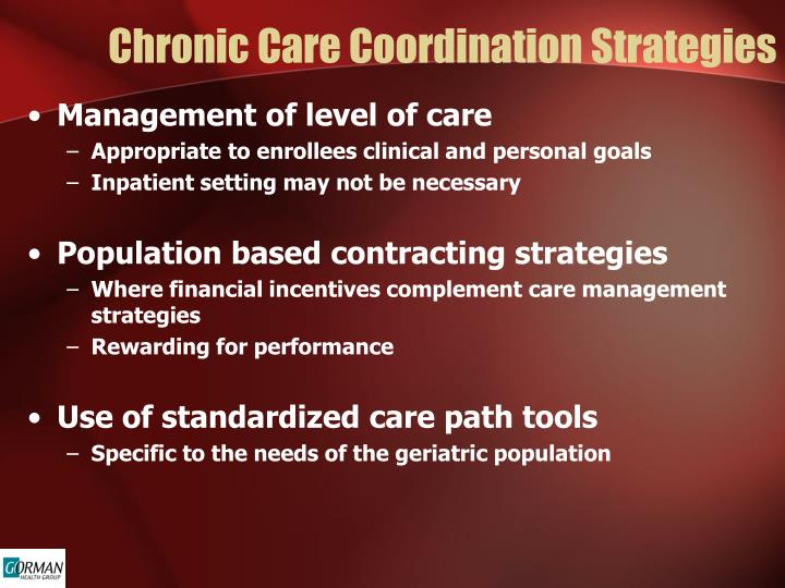 Chronic Care Coordination Strategies