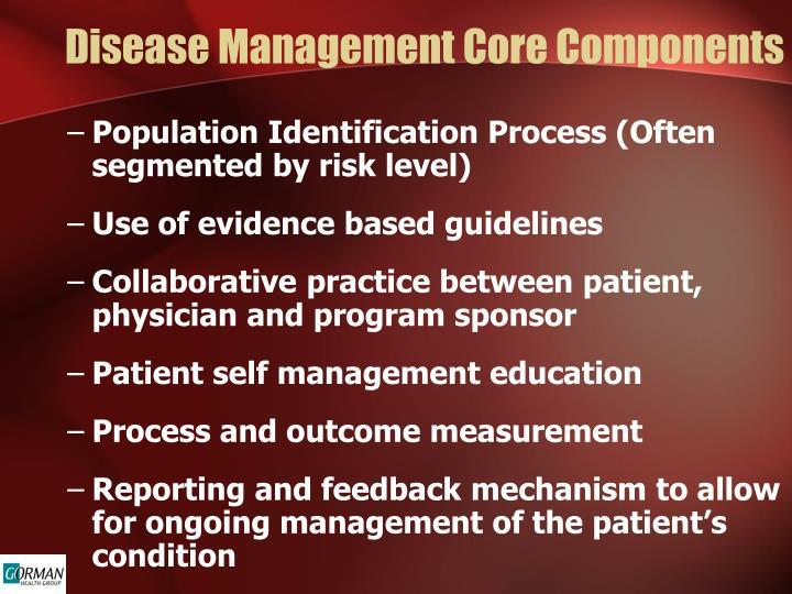 Disease Management Core Components