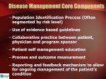disease management core components