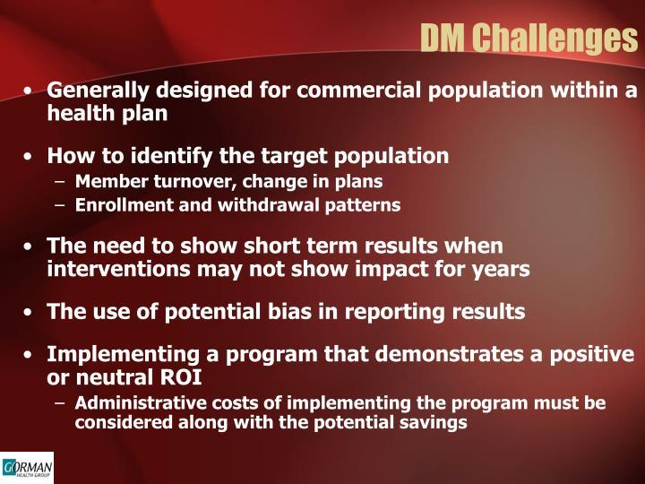 DM Challenges