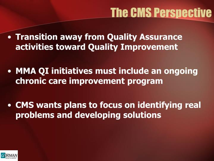 The CMS Perspective