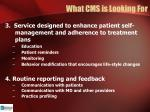 what cms is looking for1