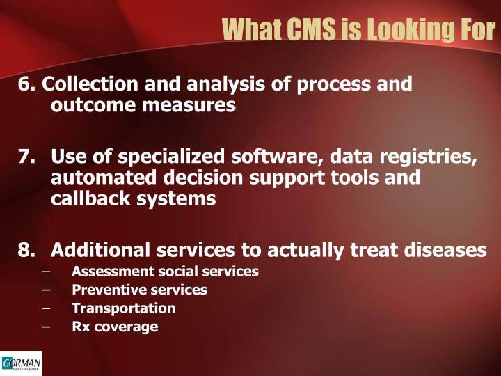 What CMS is Looking For
