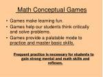 math conceptual games