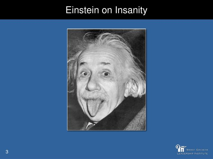 Einstein on insanity