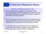 eu telecoms regulatory status3