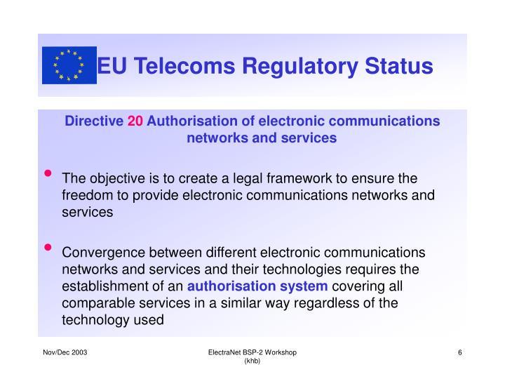 EU Telecoms Regulatory Status